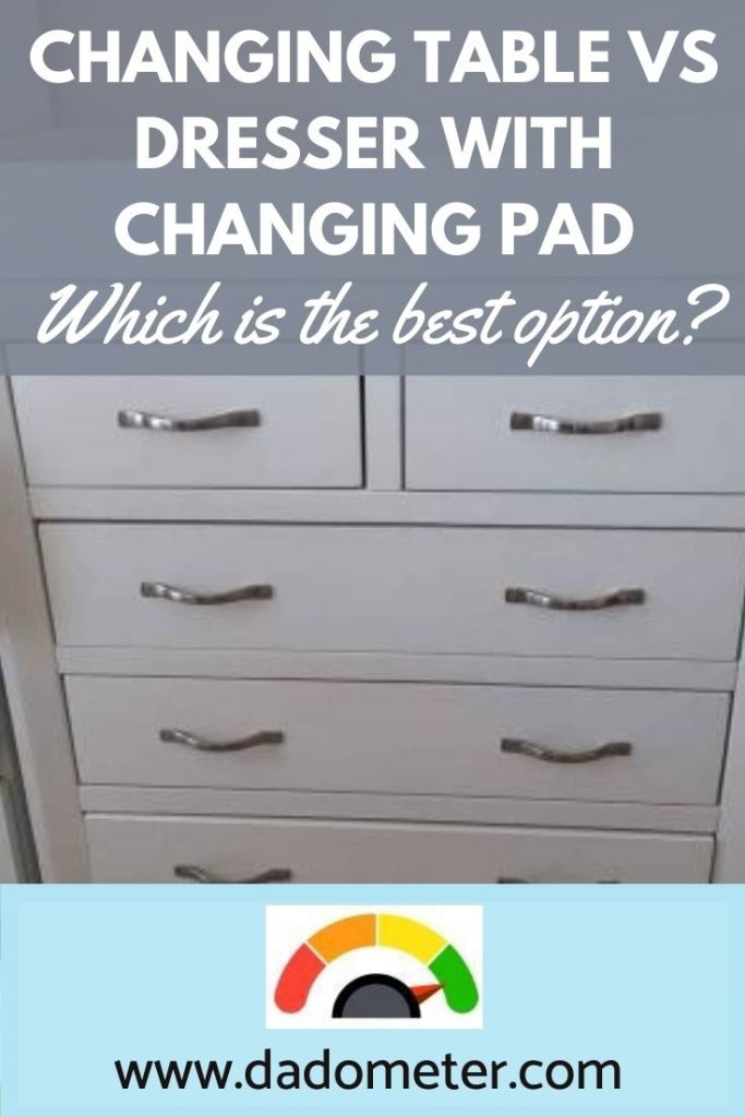 changing table vs dresser with changing pad