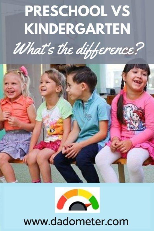 preschool vs kindergarten