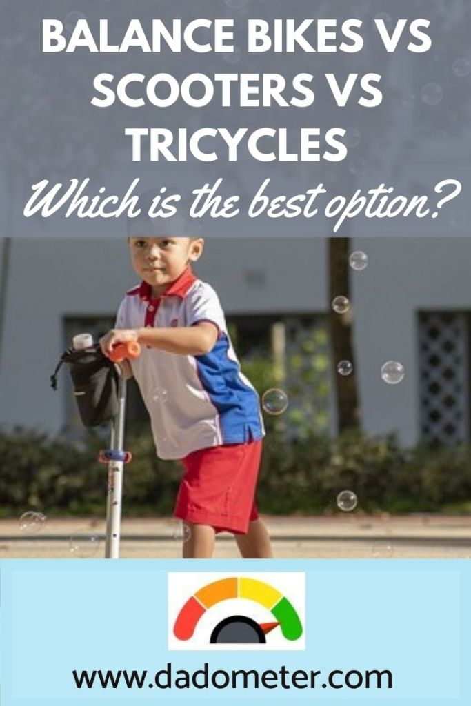 scooters vs balance bikes vs tricycles