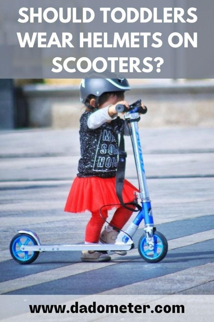 should toddlers wear helmets on scooters
